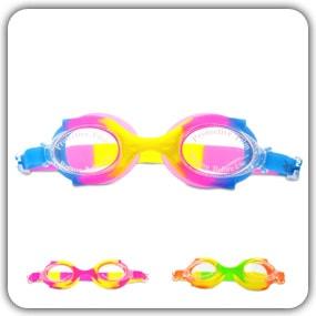 Swimtastic Kids Swimming Goggles For Boys & Girls - Colorful & Fun Tie Dye!